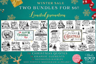 2 Christmas Bundles Graphic Crafts By Nerd Mama Cut Files