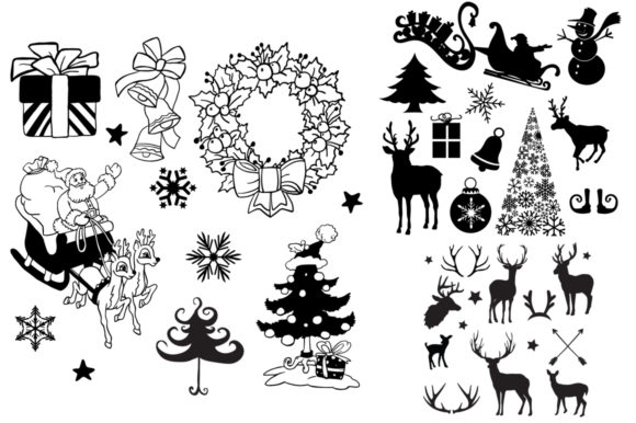 Download Free 2 Christmas Bundles Grafico Por Nerd Mama Cut Files Creative for Cricut Explore, Silhouette and other cutting machines.