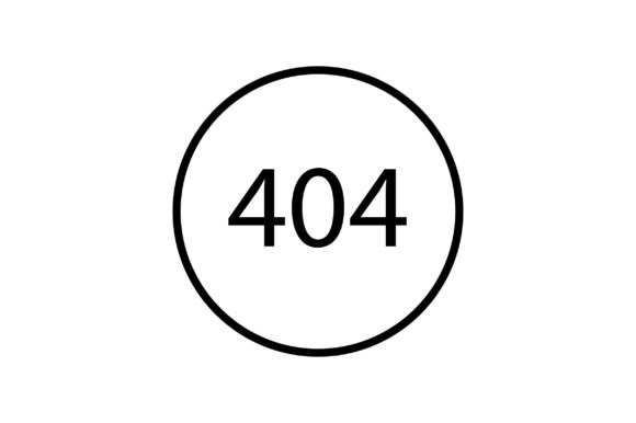 Download Free 404 Error Line Art Icon Vector Graphic By Riduwan Molla for Cricut Explore, Silhouette and other cutting machines.