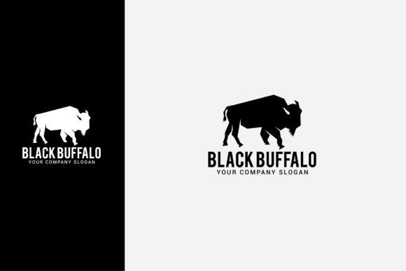 Download Free Black Buffalo Logo Graphic By Shazdesigner Creative Fabrica for Cricut Explore, Silhouette and other cutting machines.