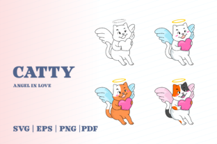 Print on Demand: Catty Angel in Love Graphic Illustrations By Momentos Crafter