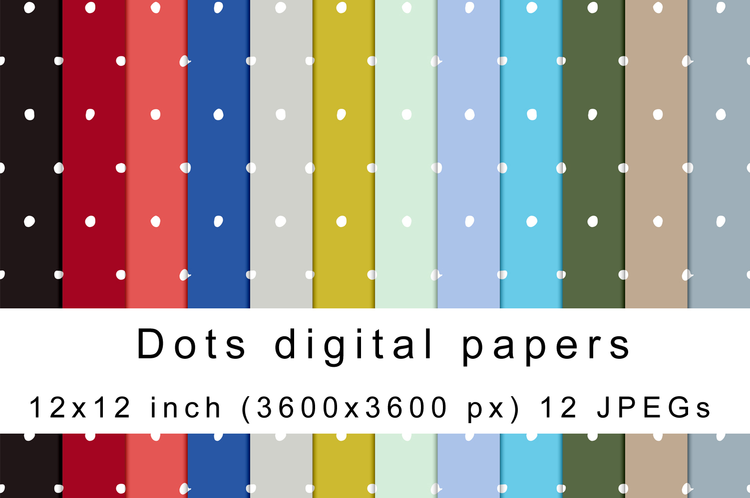 Download Free Dots Digital Papers Graphic By Andrea Kostelic Creative Fabrica for Cricut Explore, Silhouette and other cutting machines.