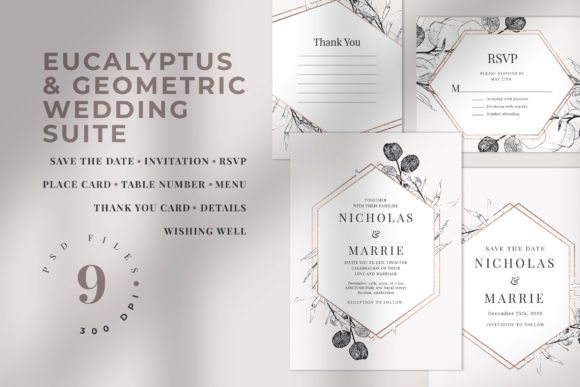 Download Free Wedding Invitation Suite Morsey Graphic By Azka Creative for Cricut Explore, Silhouette and other cutting machines.