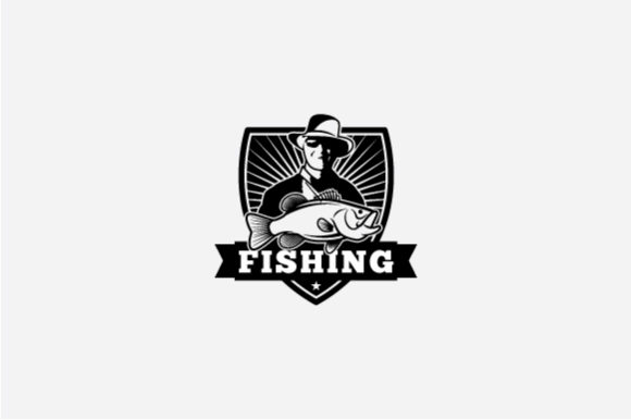 Download Free Fishing Logo Grafico Por Octopusgraphic Creative Fabrica for Cricut Explore, Silhouette and other cutting machines.