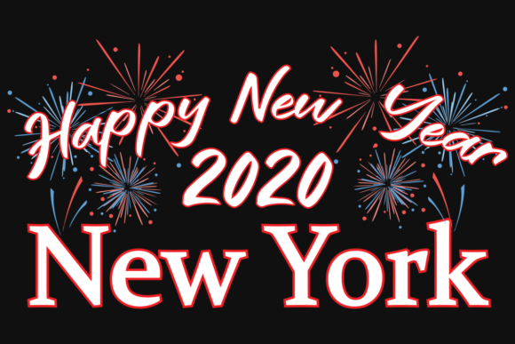 Download Free Happy New Year 2020 New York Graphic By Design Svg Creative for Cricut Explore, Silhouette and other cutting machines.