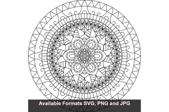 Download Free Mandala Art 714 Graphic Graphic By Iwantto Us Creative Fabrica for Cricut Explore, Silhouette and other cutting machines.