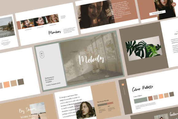 Download Free Melody Keynote Presentation Template Graphic By Balyastd for Cricut Explore, Silhouette and other cutting machines.