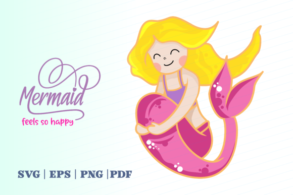 Print on Demand: Mermaid Feels so Happy Graphic Illustrations By Momentos Crafter