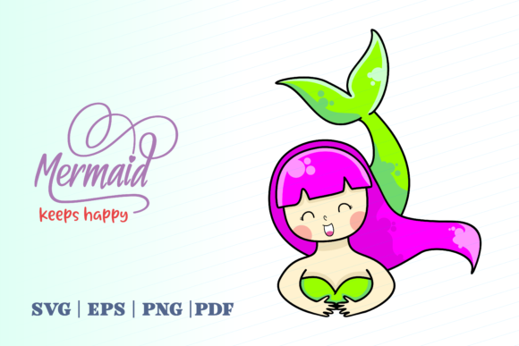 Print on Demand: Mermaid Keeps Happy Graphic Illustrations By Momentos Crafter