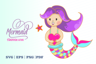 Print on Demand: Mermaid Starfish Love Graphic Illustrations By Momentos Crafter
