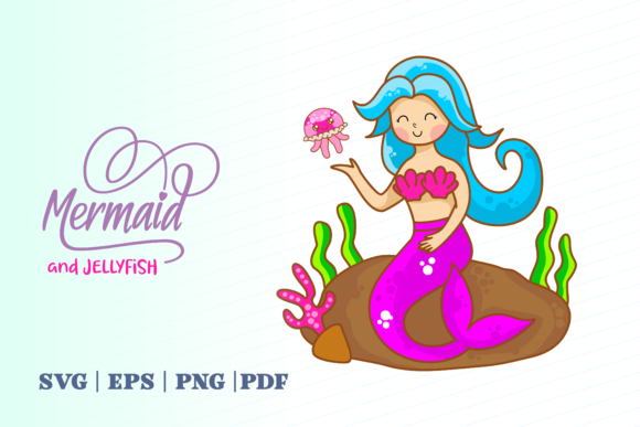 Print on Demand: Mermaid and Jellyfish Graphic Illustrations By Momentos Crafter