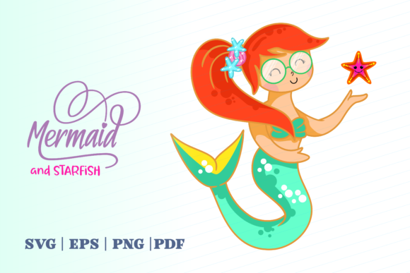 Print on Demand: Mermaid and Starfish Graphic Illustrations By Momentos Crafter