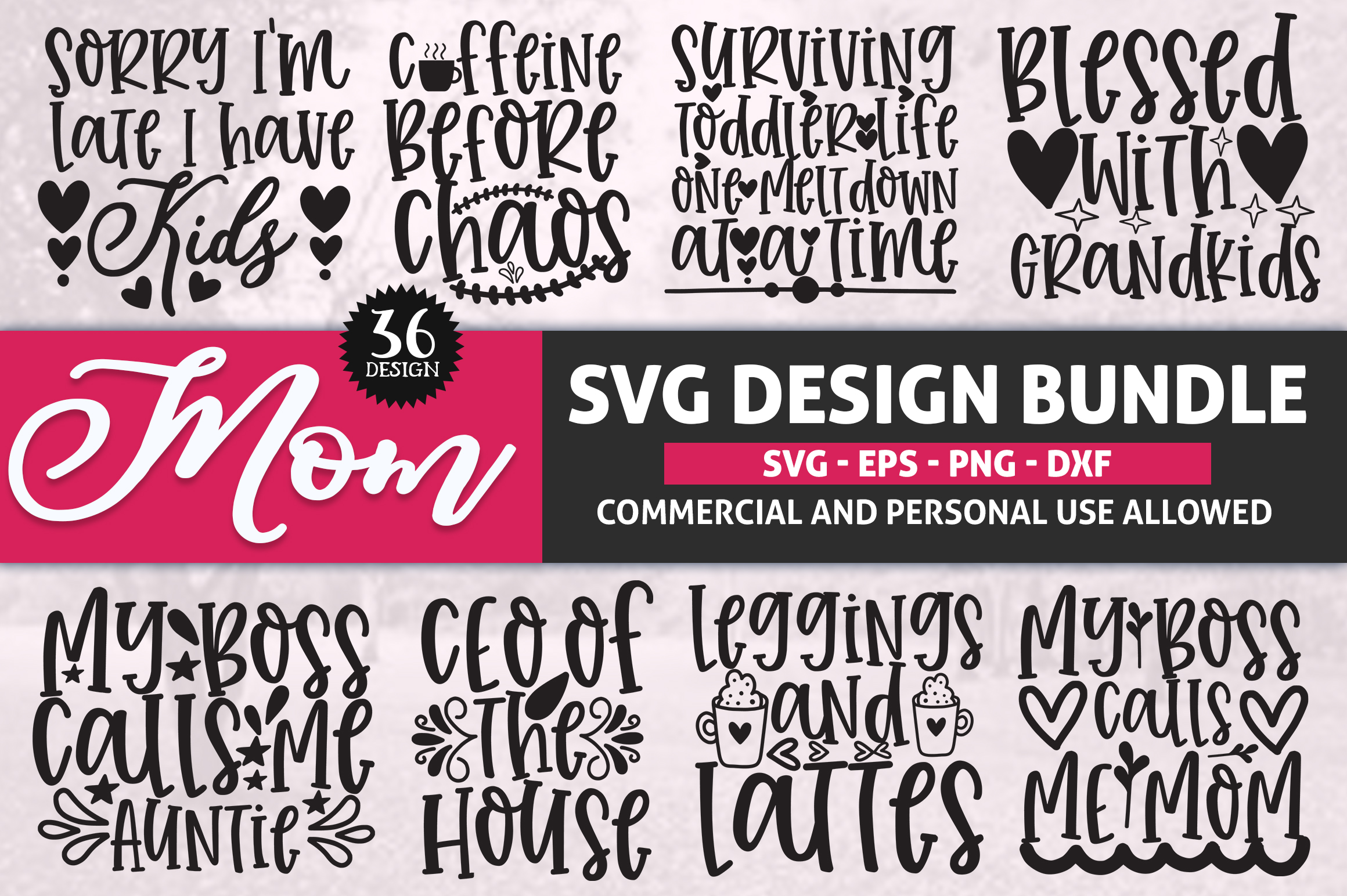 Download Free Mom Big Bundle Vol 1 Graphic By Subornastudio Creative Fabrica for Cricut Explore, Silhouette and other cutting machines.