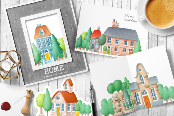 Print on Demand: Old Town Scene Creator Graphic Illustrations By Architekt_AT - Image 2