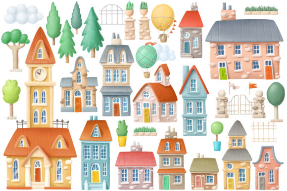 Print on Demand: Old Town Scene Creator Graphic Illustrations By Architekt_AT - Image 3