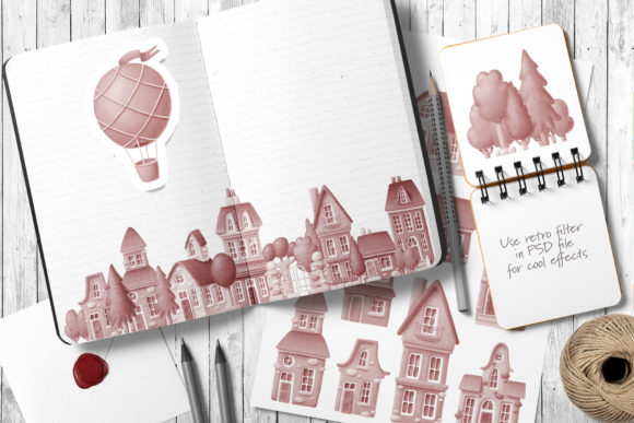 Print on Demand: Old Town Scene Creator Graphic Illustrations By Architekt_AT - Image 4