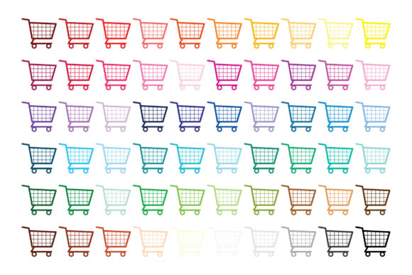 Print on Demand: Shopping Carts & Dollar Signs Clip Art Graphic Illustrations By Running With Foxes - Image 8