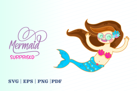 Print on Demand: Surprised Mermaid Graphic Illustrations By Momentos Crafter