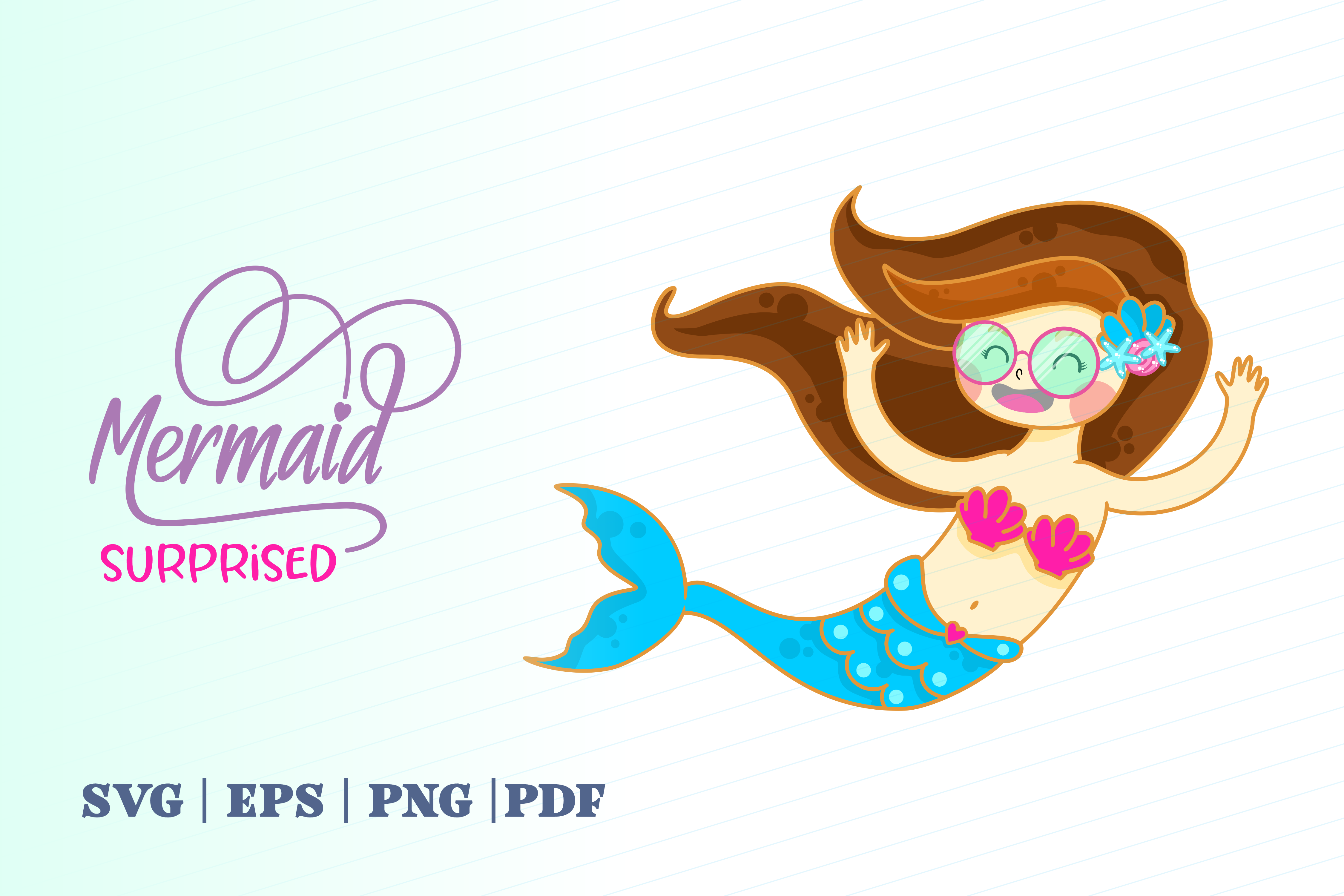Download Free Surprised Mermaid Graphic By Momentos Crafter Creative Fabrica SVG Cut Files