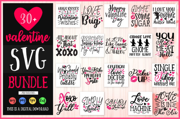 Print on Demand: Valentine Design Bundle Vol 1 Graphic Crafts By OrinDesign - Image 1