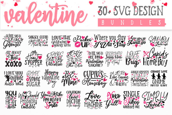 Print on Demand: Valentine Design Bundle Vol 1 Graphic Crafts By OrinDesign - Image 7