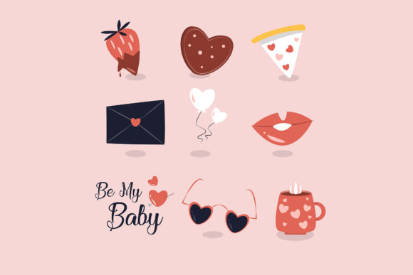 Valentine's Day Collection Graphic Illustrations By april_arts