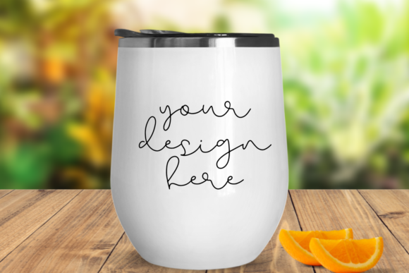 Print on Demand: White Tumbler Mock Up Graphic Product Mockups By Mockup Venue