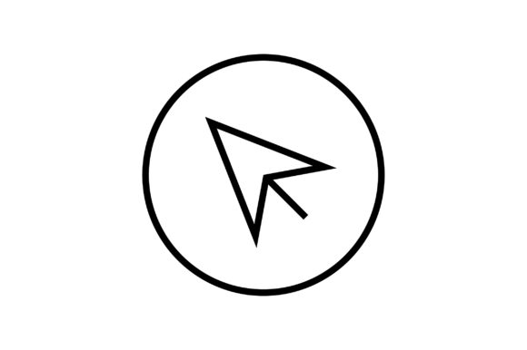 Download Free Arrow Pointer Line Art Vector Icon Graphic By Riduwan Molla for Cricut Explore, Silhouette and other cutting machines.