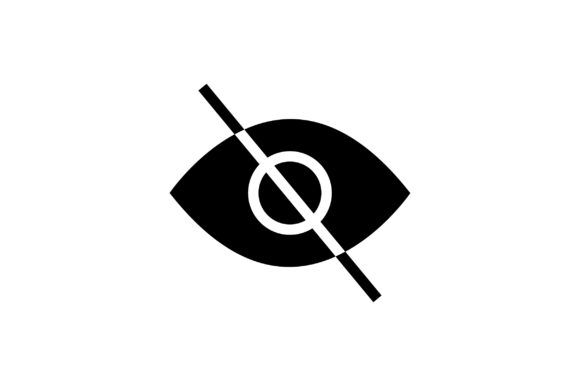 Download Free Eye Prohibited Glyph Icon Vector Graphic By Riduwan Molla SVG Cut Files