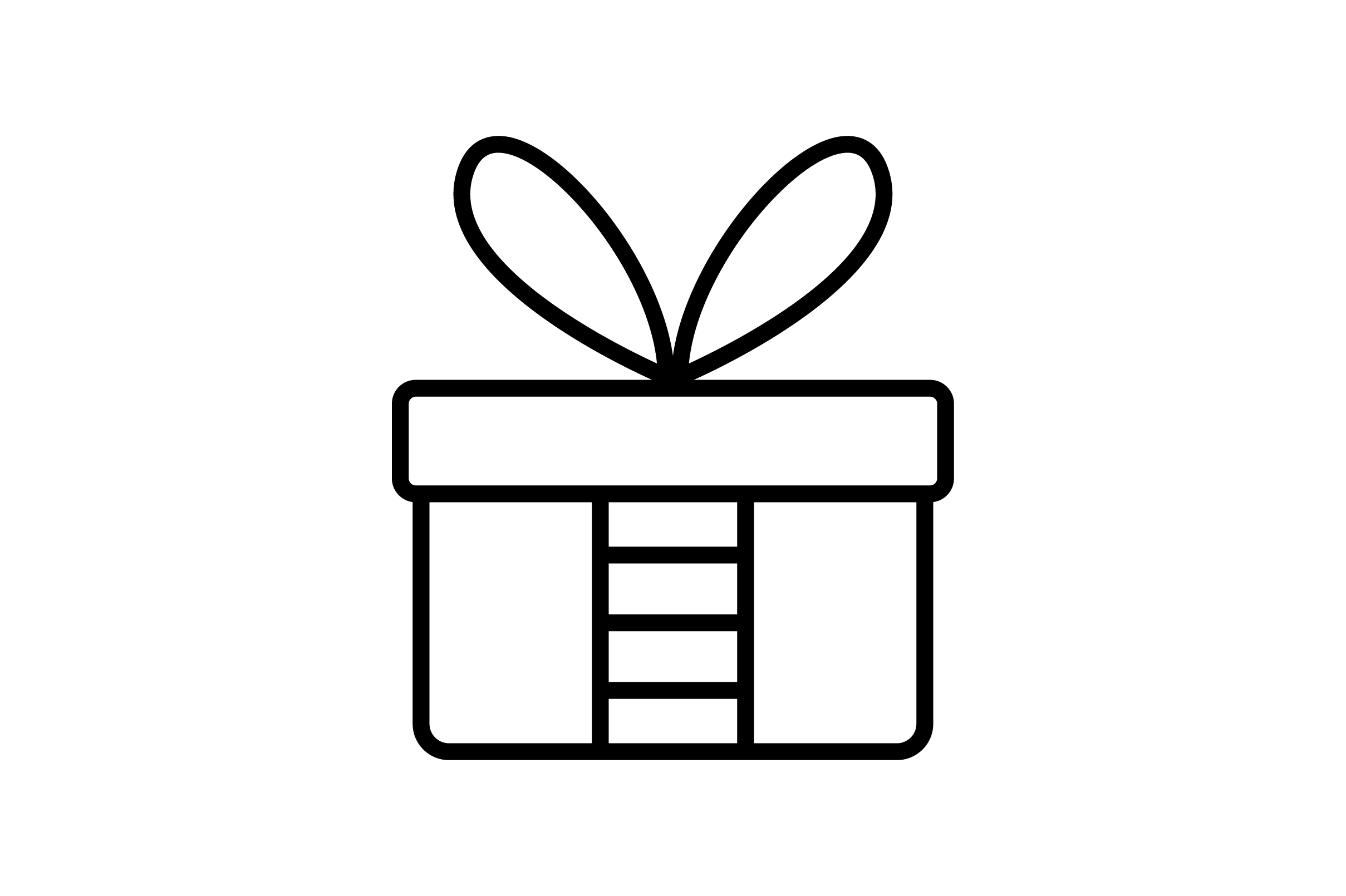Download Free Gift Box Line Art Vector Icon Graphic By Riduwan Molla for Cricut Explore, Silhouette and other cutting machines.