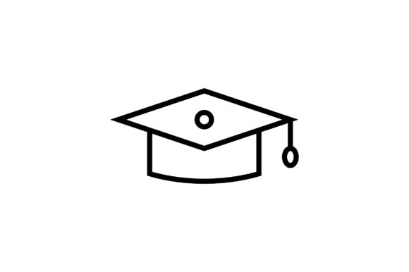 Download Free Graduation Cap Line Art Vector Icon Graphic By Riduwan Molla for Cricut Explore, Silhouette and other cutting machines.