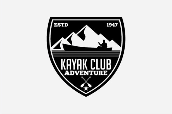 Download Free Kayak Logo Badge Graphic By Octopusgraphic Creative Fabrica for Cricut Explore, Silhouette and other cutting machines.