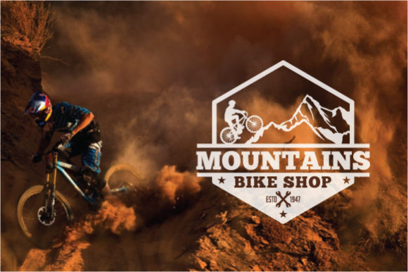 Download Free Mountain Bike Logo Badge Graphic By Octopusgraphic Creative for Cricut Explore, Silhouette and other cutting machines.