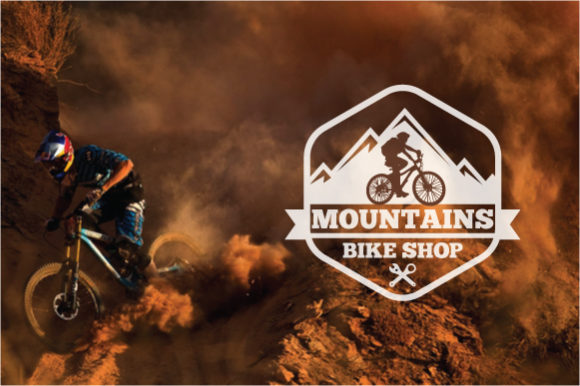 Download Free Mountain Bike Logo Badge Graphic By Octopusgraphic Creative SVG Cut Files
