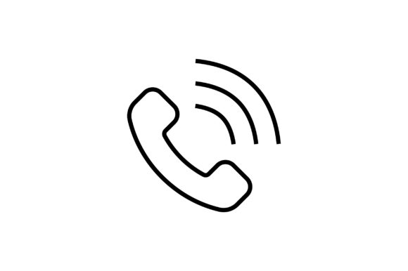 Phone Call Line Art Vector Icon Graphic By Riduwan Molla