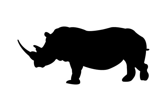Print on Demand: Rhinoceros Graphic Icons By marco.livolsi2014 - Image 1