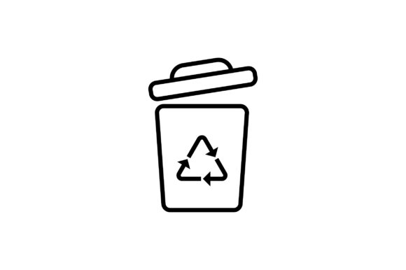 Download Free Trash Bin Line Art Vector Icon Graphic By Riduwan Molla Creative Fabrica for Cricut Explore, Silhouette and other cutting machines.