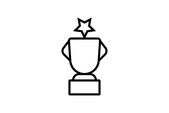 Download Free Trophy Line Art Vector Icon Graphic By Riduwan Molla Creative SVG Cut Files