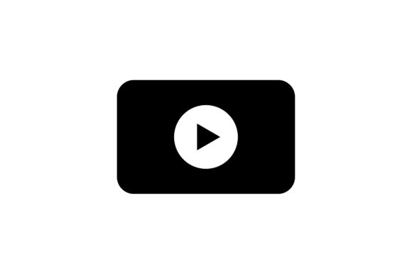 Download Free Video Player Glyph Icon Vector Graphic By Riduwan Molla for Cricut Explore, Silhouette and other cutting machines.