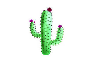 Cactus - Watercolor Mexico Craft Cut File By Creative Fabrica Crafts