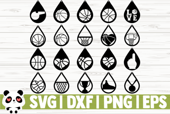 Download Free 20 Basketball Earrings Graphic By Creativedesignsllc Creative for Cricut Explore, Silhouette and other cutting machines.