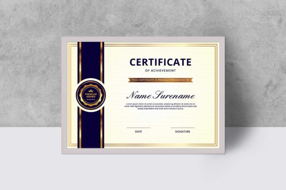 Print on Demand: Certificate Template Graphic Print Templates By graphicidenic
