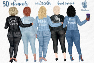 Print on Demand: Curvy Girls Plus Size Girls Clipart Graphic Illustrations By LeCoqDesign
