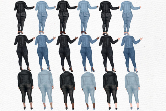 Curvy Girls Plus Size Girls Clipart Graphic Illustrations By LeCoqDesign - Image 2