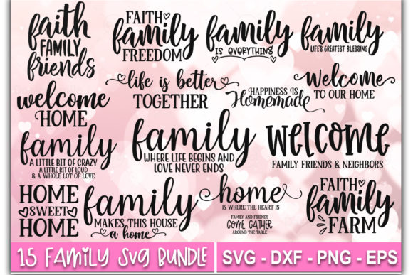 Print on Demand: Family SVG Bundle Graphic Print Templates By Designdealy.com