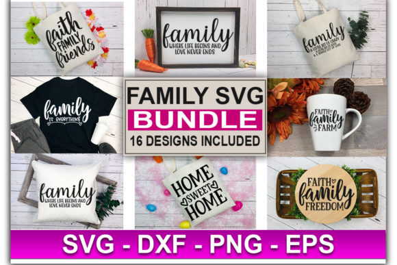 Print on Demand: Family SVG Bundle Graphic Print Templates By Designdealy.com - Image 2