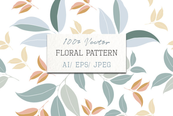 Download Free Floral Vector Clean Pattern Leaves Graphic By Fleurartmariia for Cricut Explore, Silhouette and other cutting machines.
