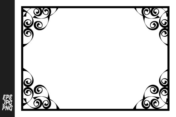 Print on Demand: Frame Border Ornament Vector Decoration Graphic Crafts By Arief Sapta Adjie