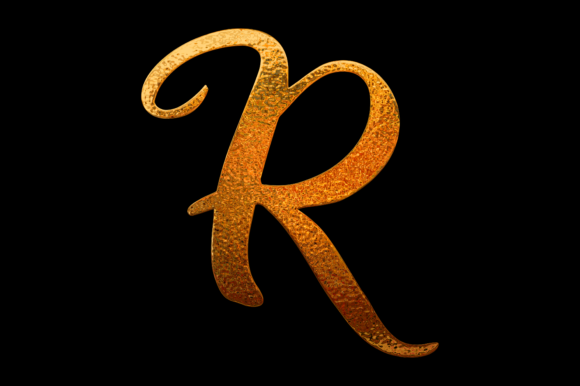 Print on Demand: Golden Letter R Graphic Product Mockups By colorsplash