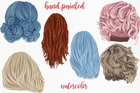 Hairstyles Clipart, Girls Hairstyles Graphic Illustrations By LeCoqDesign - Image 2
